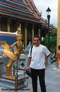Estatua de una Garuda, Palacio Real de Bangkok, Tailandia